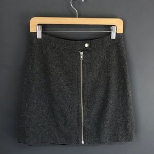 Madewell Zip Front Wool Skirt